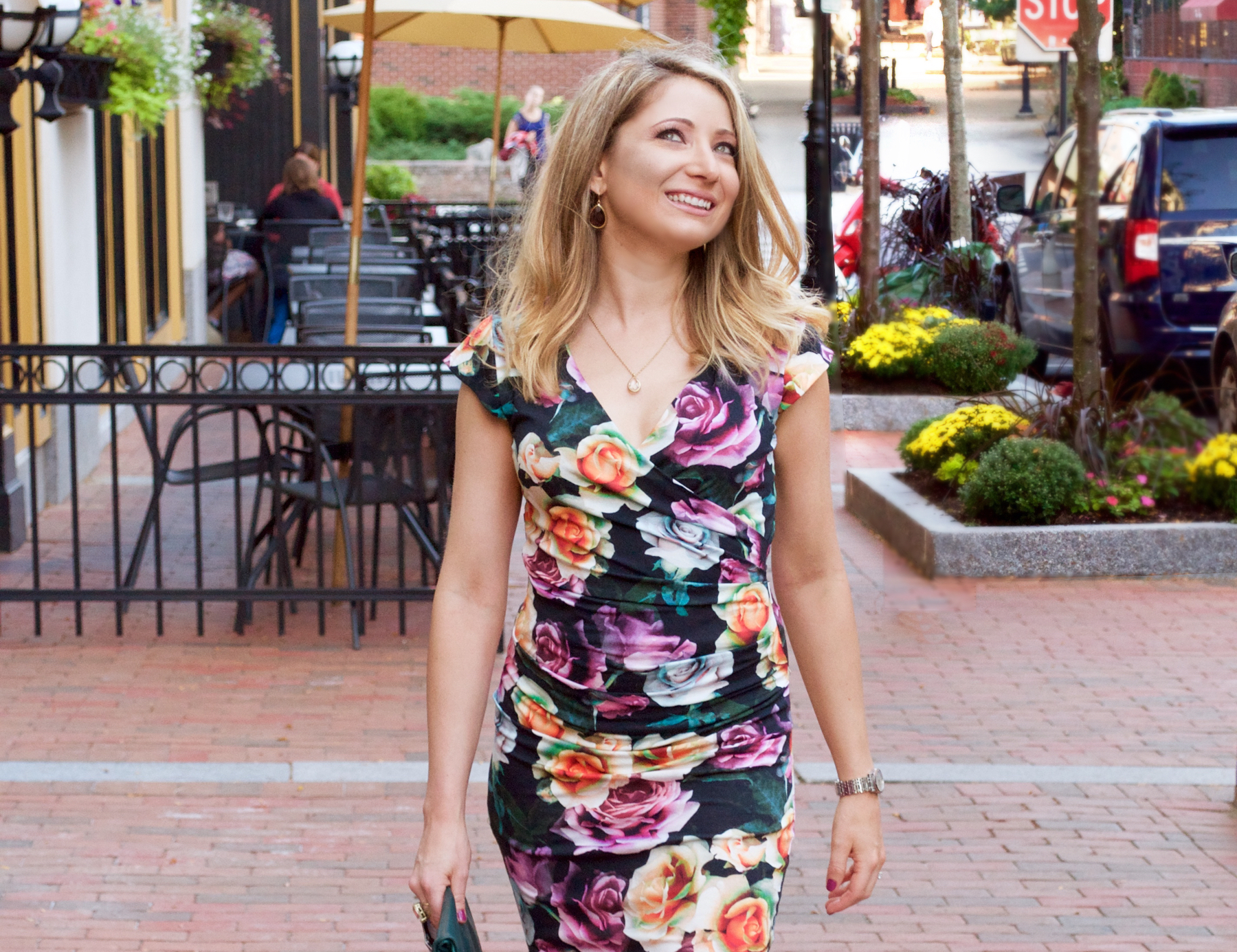 who to rock a faux wrap dress