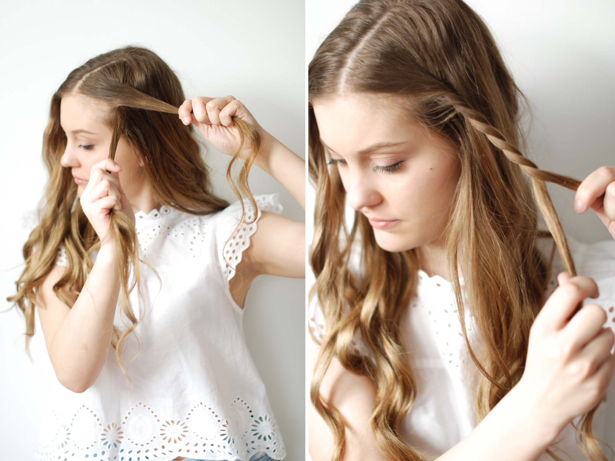Hair Tutorial: A Chic Twisted Braid with Gorgeous Curls
