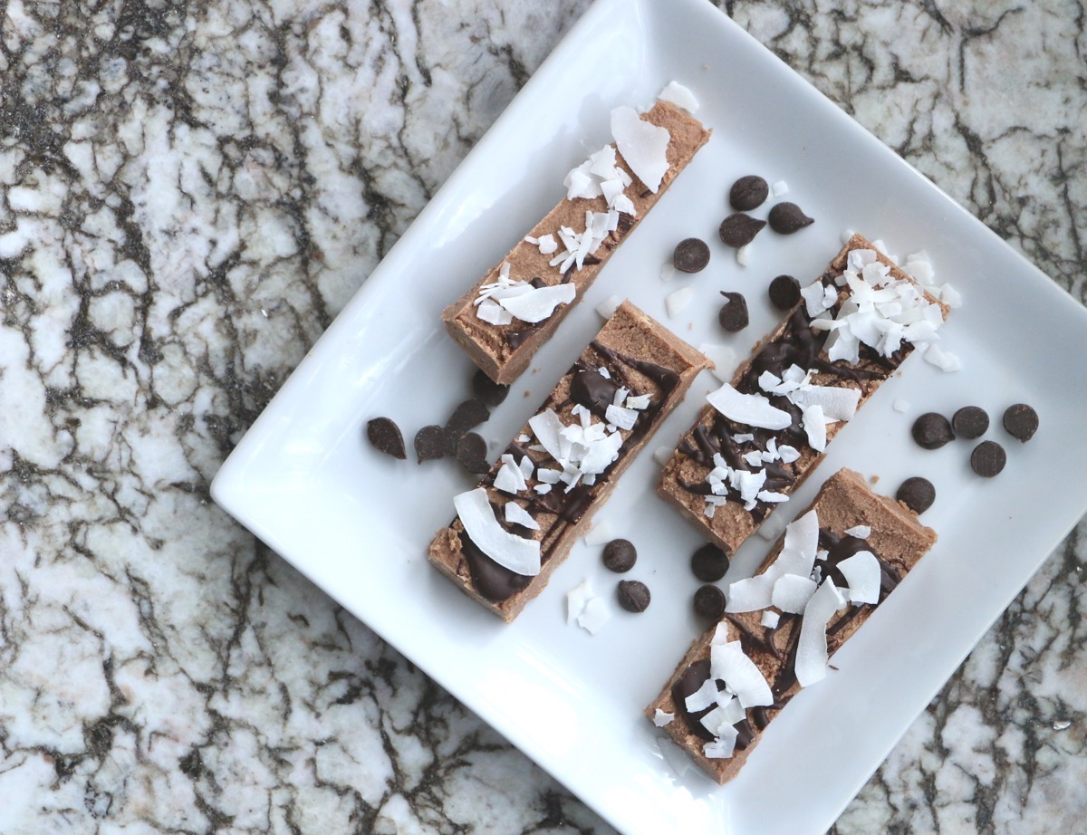 6 Ingredient, No Bake Coconut Power Protein Bars