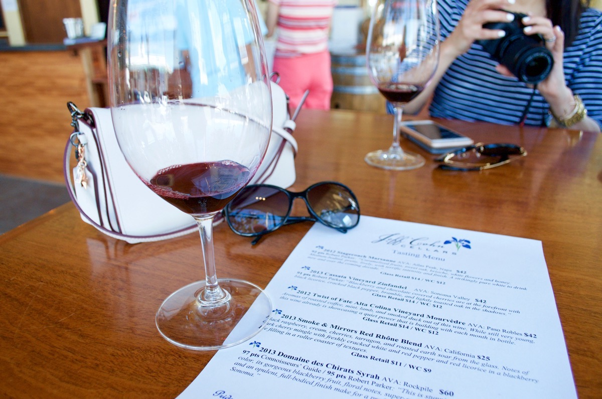 red wine napa valley