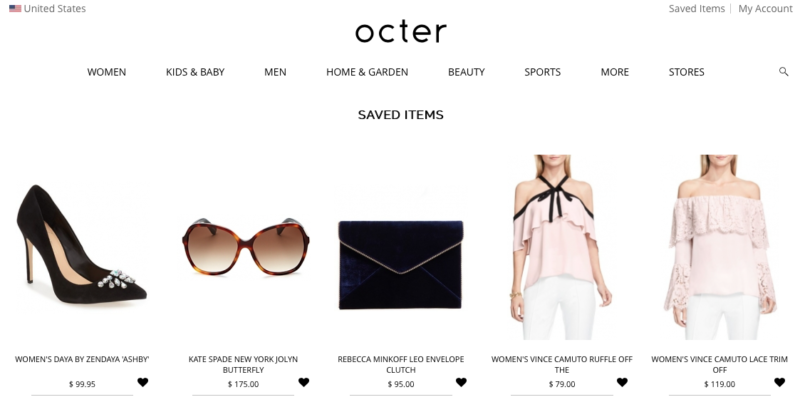 Online Shopping with Octer