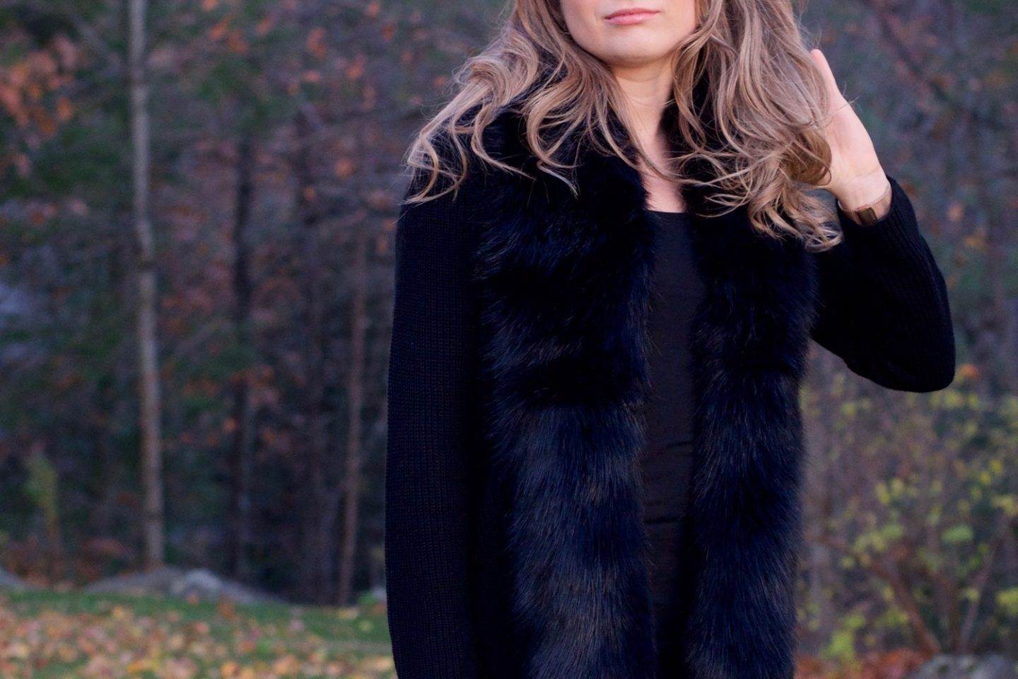 This Faux Fur Collar Cardigan has it ALL