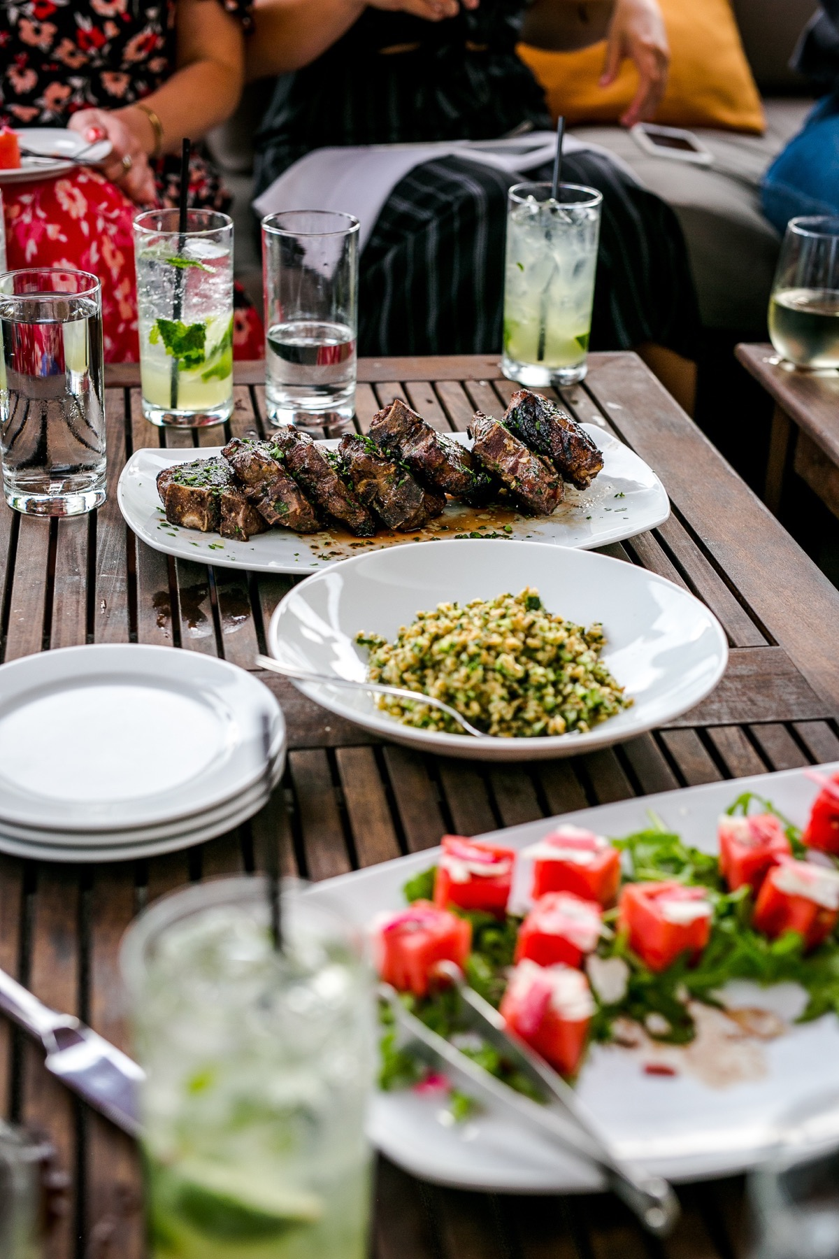 Vivace Charlotte Grilled Lamb Porterhouse Farro & Parsley Salad