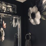 Small Powder Room Idea Glam Moody and Floral Header