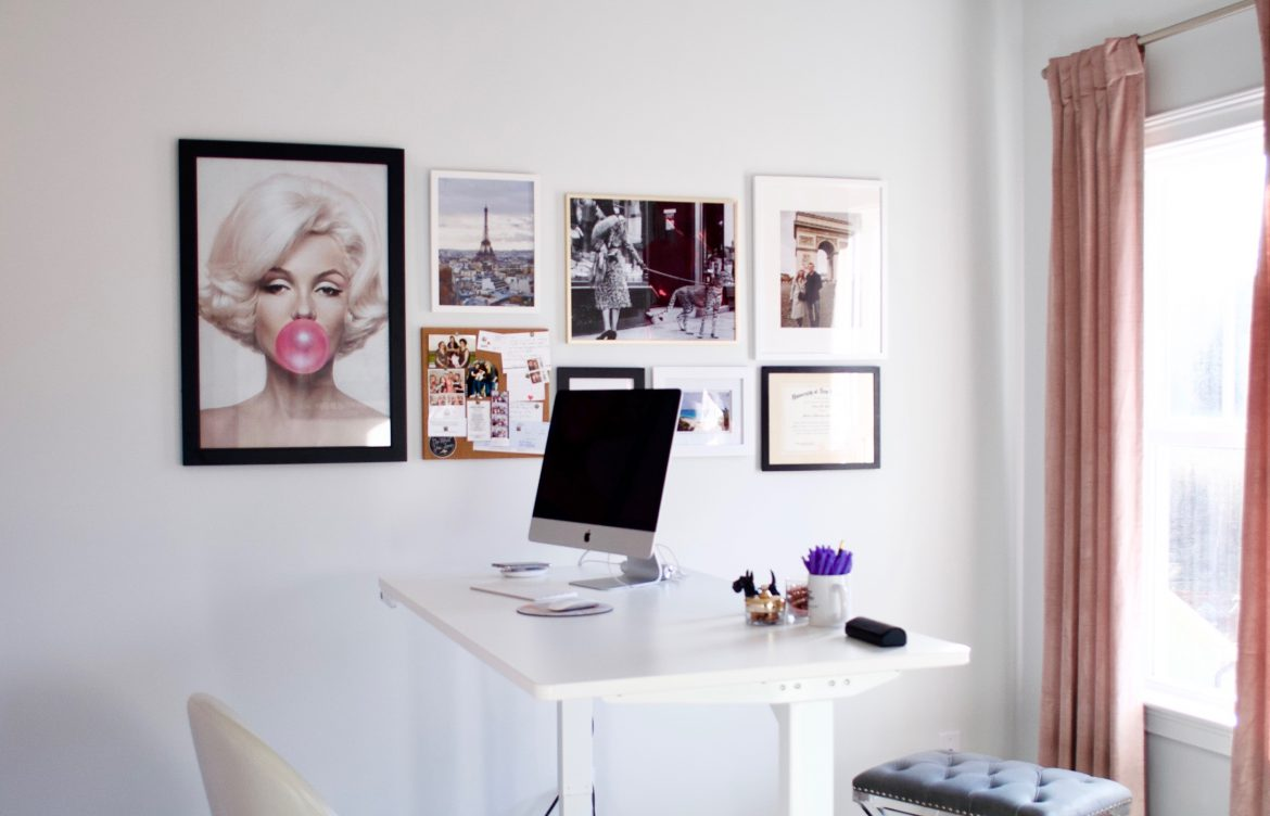 Girly Home Office Space - Annie Spano