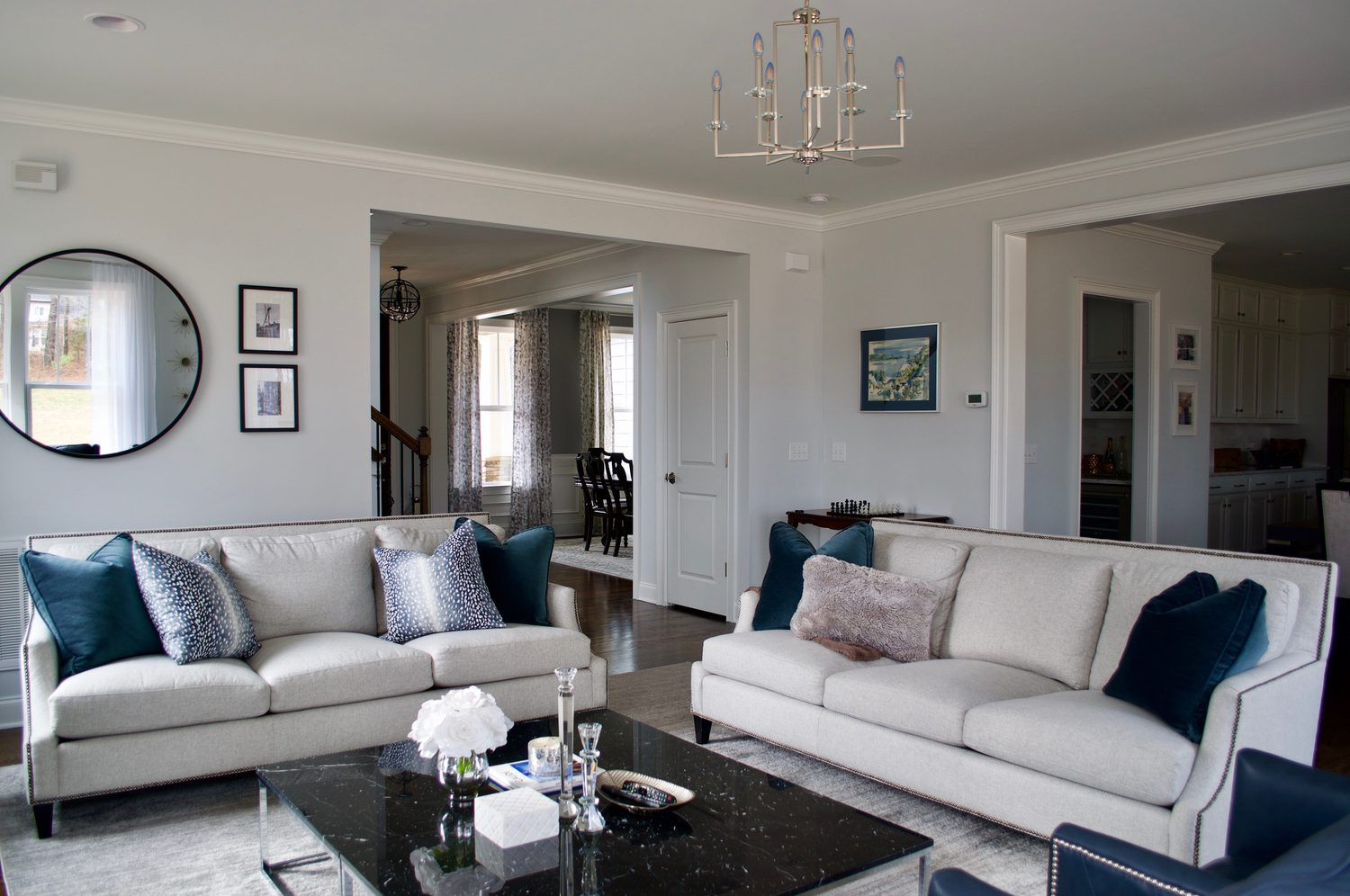 Transitional Living Room Annie Spano