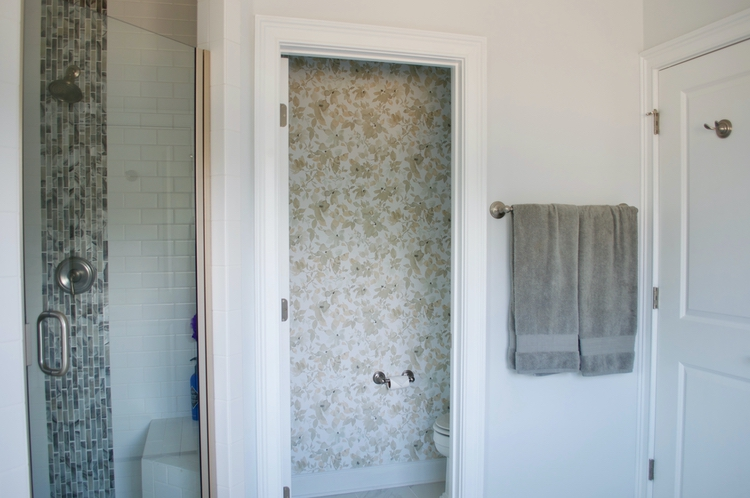 Master Bathroom Water Closet Removable Wallpaper